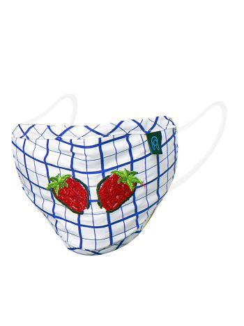 Kid's Printed Embroidered Face Armour- 0073